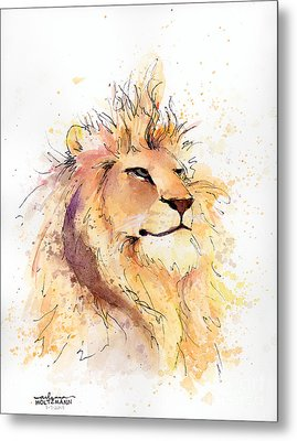 Lion 3 Metal Print by Arleana Holtzmann