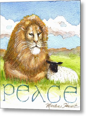 Lion And Lamb - Peace  Metal Print
