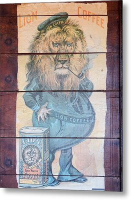 Lion Coffee Metal Print by Susan Ince