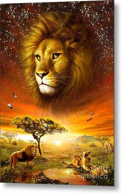 Lion Dawn Metal Print by Adrian Chesterman