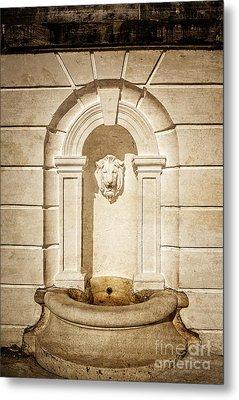 Lion Head Fountain The Mount Edith Warton Estate Lenox Ma Metal Print