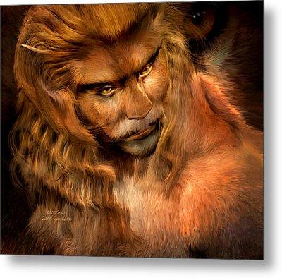 Lion Man Metal Print by Carol Cavalaris