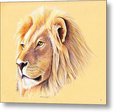 Lion Metal Print by Mary Mayes