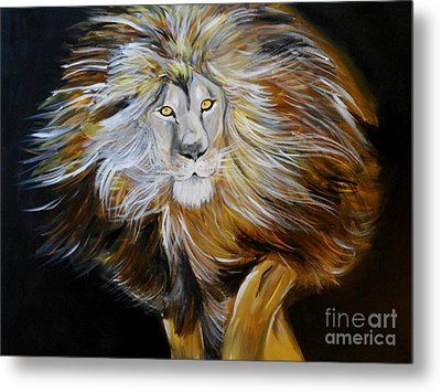 Metal Print featuring the painting Lion Of Judah by Amanda Dinan