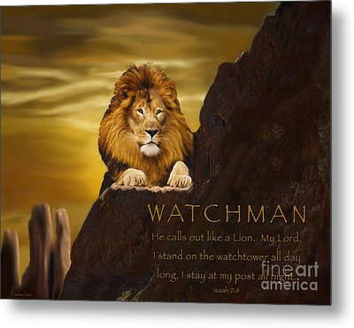 Lion Watchman Metal Print