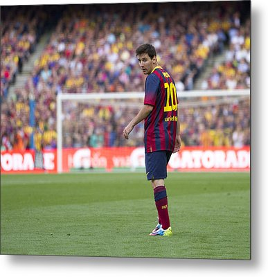 Metal Print featuring the photograph Lionel Messi by Nathan Rupert