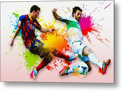 Lionel Messi Of Fc Barcelona Metal Print