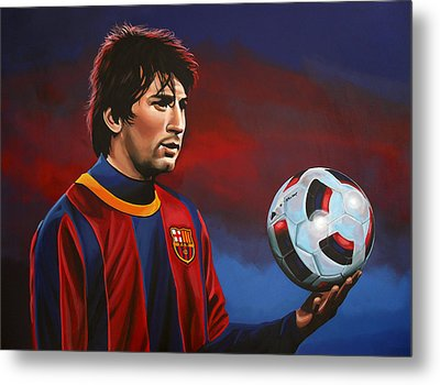 Lionel Messi 2 Metal Print by Paul Meijering