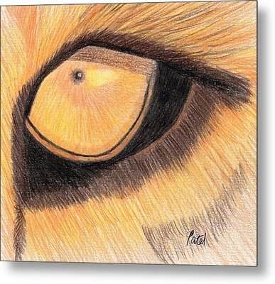 Lions Eye Metal Print by Bav Patel
