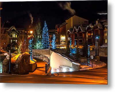 Lions Head Village Vail Colorado Metal Print by Brenda Jacobs