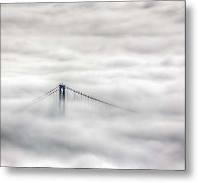 Lionsgate In The Fog Metal Print by R J Ruppenthal