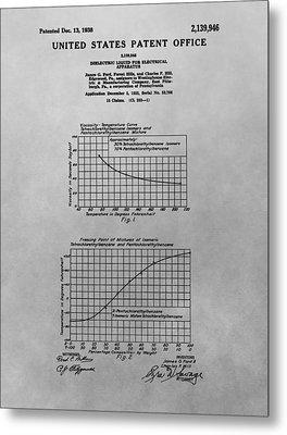 Liquid Dielectric Patent Metal Print