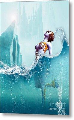 Metal Print featuring the digital art Liquid Fantasy by Sandra Bauser Digital Art