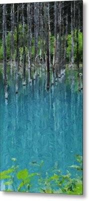 Liquid Forest Metal Print
