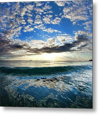Blue Lava Metal Print by Sean Davey