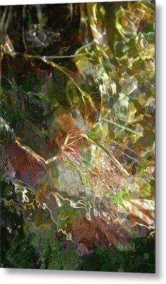 Liquid Leaves Metal Print by Rich Collins