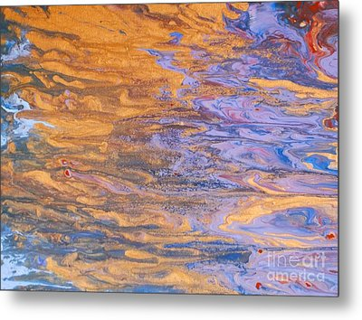 Metal Print featuring the painting Liquid Summer by Donna Dixon