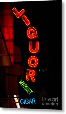Liquor Market Metal Print by Lee Roth