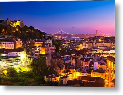 Lisbon 02 Metal Print by Tom Uhlenberg