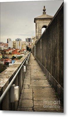 Lisbon Aqueduct Metal Print by Carlos Caetano