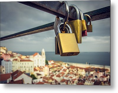 Lisbon Is For Lovers Metal Print by Carlos Caetano
