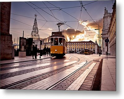 Lisbon Light Metal Print by Jorge Maia