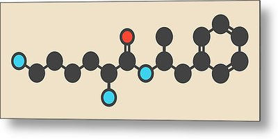 Lisdexamfetamine Mesylate Molecule Metal Print