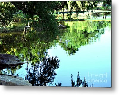 Listen To The Quiet Metal Print by Linda Cox