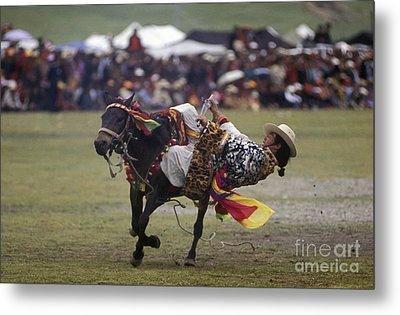Litang Horse Festival - Kham Tibet Metal Print