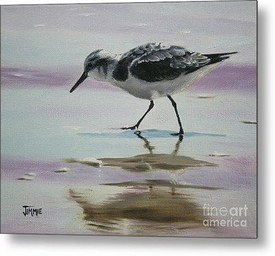 Little Beach Bird Metal Print by Jimmie Bartlett