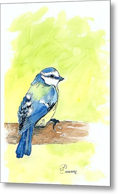 Little Blue Bird Metal Print