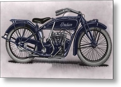 Little Blue Indian 2 Metal Print