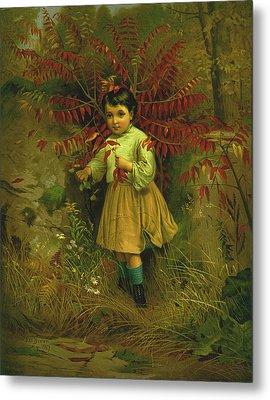 Little Bo Peep 1867 Metal Print by JG Brown
