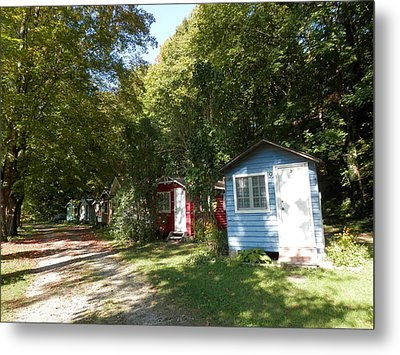 Little Cabins Metal Print