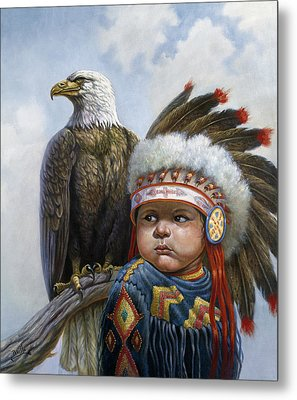Little Chief Metal Print by Gregory Perillo