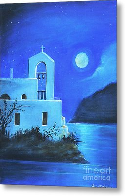 Metal Print featuring the painting Little Church By The Sea by S G