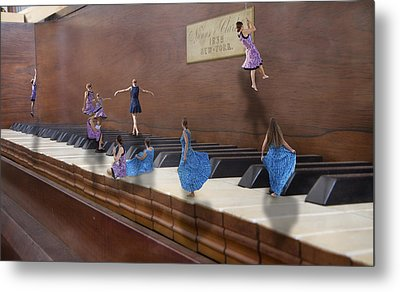 Little Composers IIi Metal Print by Betsy Knapp