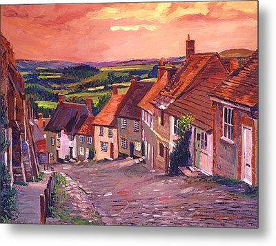 Little Country Village England Metal Print by David Lloyd Glover