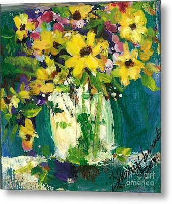 Little Daisies Metal Print by Sherry Harradence