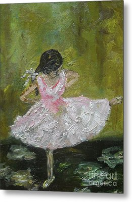 Metal Print featuring the painting Little Dansarina by Reina Resto