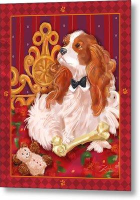 Little Dogs - Cavalier King Charles Spaniel Metal Print