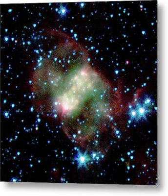 Little Dumbbell Nebula Metal Print