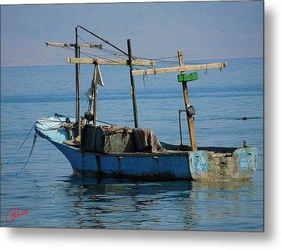 Little Fishingboat Nuweiba Beach Sinai Egypt Metal Print by Colette V Hera  Guggenheim