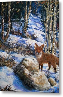 Metal Print featuring the painting Little Fox by Megan Walsh
