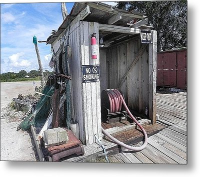 Little Gas Shack Metal Print by Patricia Greer