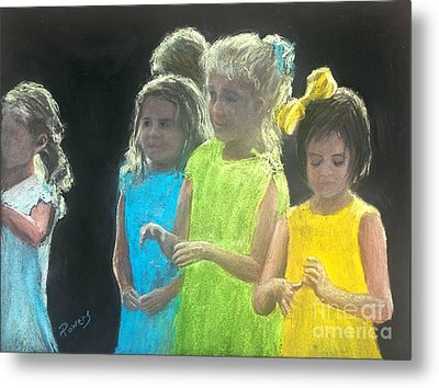Little Girls Metal Print