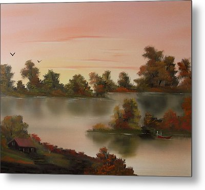 Little Haven At Sunset Metal Print by Cynthia Adams
