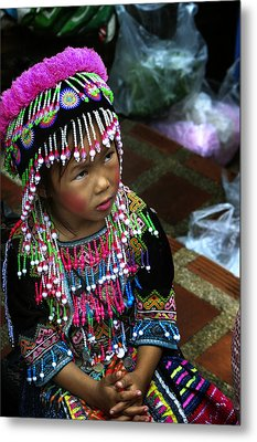 Metal Print featuring the photograph Little Hill Tribe Girl by Rob Tullis