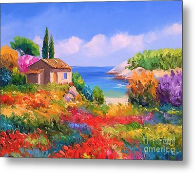 Little House By The Sea Metal Print