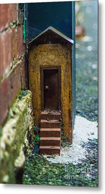 Little House Down The Lane  Metal Print by Naomi Burgess